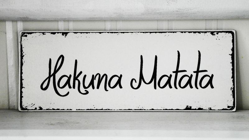 shabby vintage holz schild hakuna matata von homestyle accessoires via. Black Bedroom Furniture Sets. Home Design Ideas
