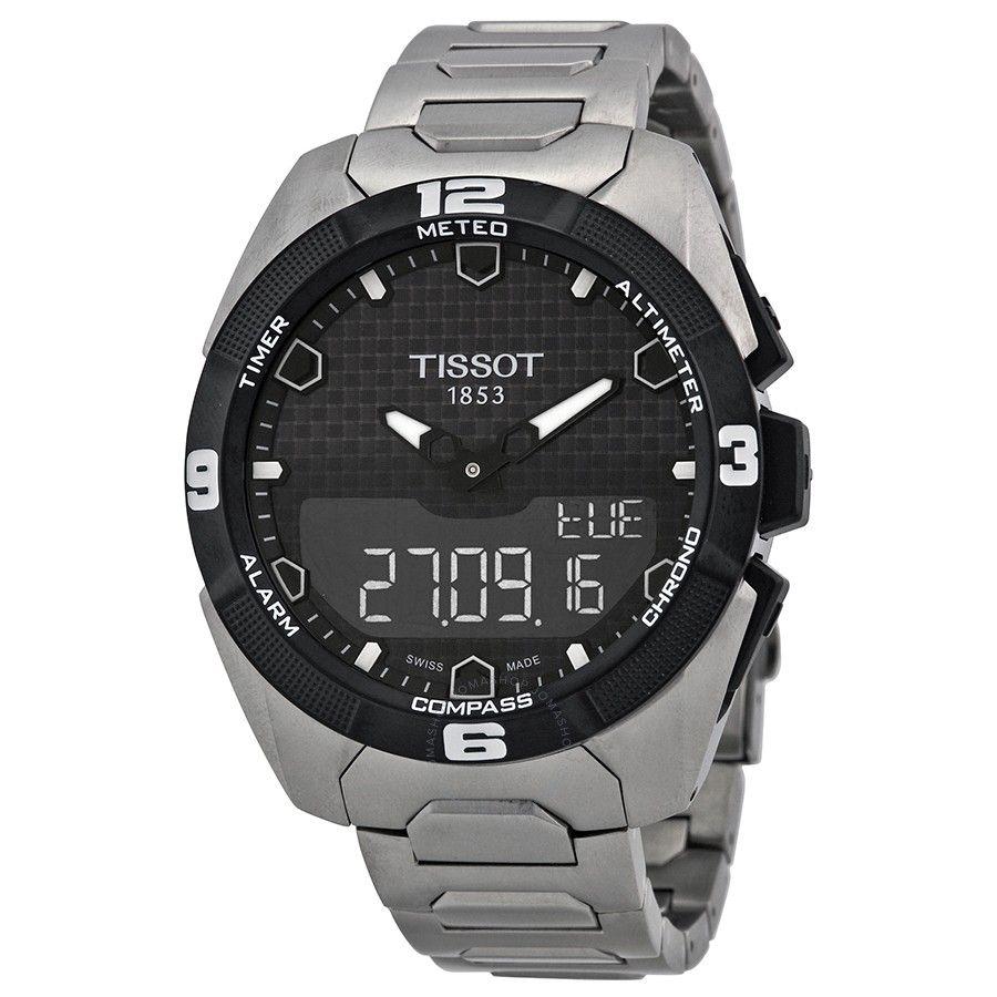 Tissot T Touch Expert Solar Black Dial Men S Watch T0914204405100 Tissot T Touch Watches For Men Titanium Watches