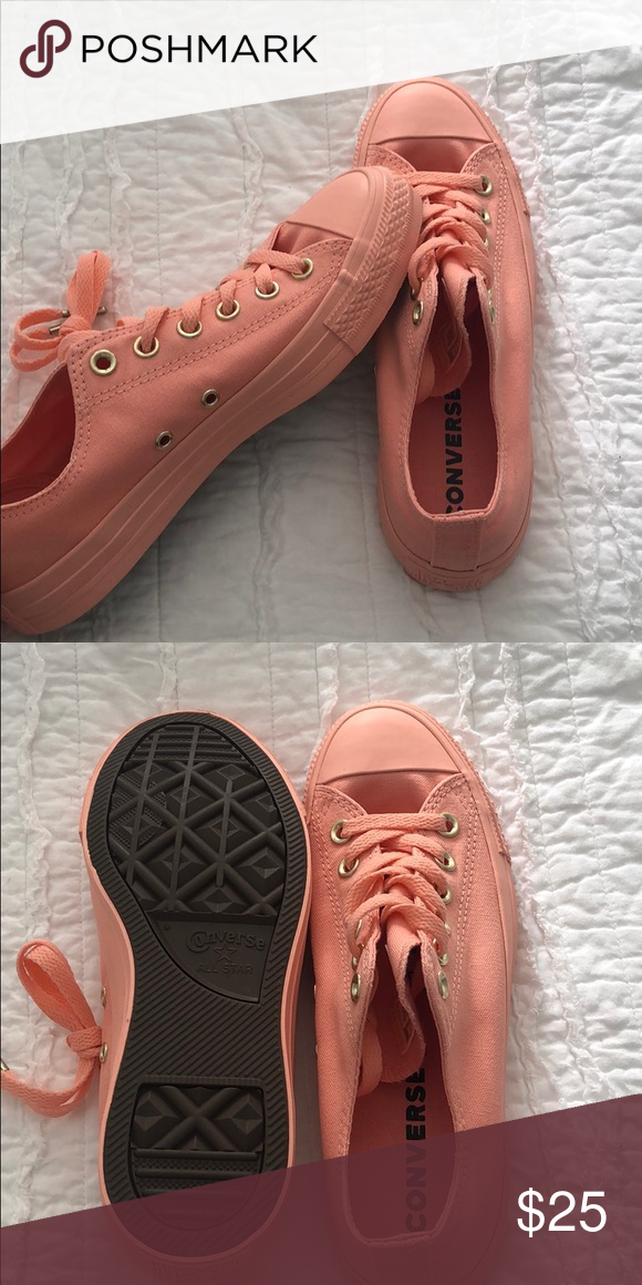 9ebe0984c56a Converse- pale coral Low top converse. New in box. Size 8.5 women s  Converse Shoes Sneakers