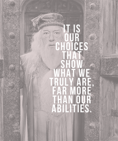 albus dumbledore, black and white, It is our choices that show what we truly are far more than our abilities