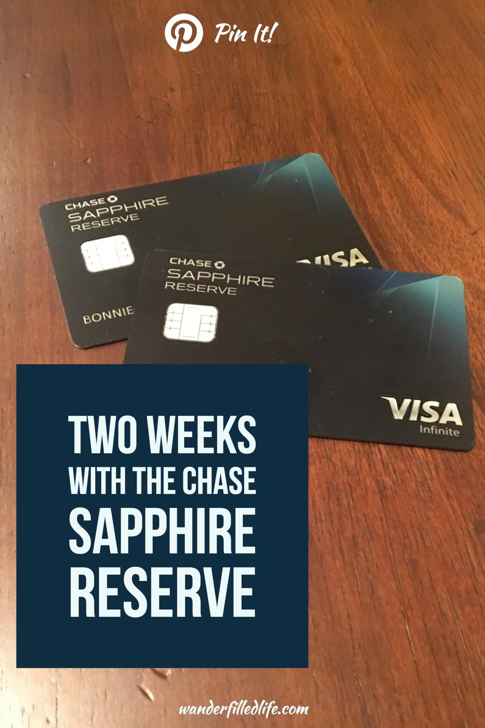 Two Weeks with the Chase Sapphire Reserve | Sapphire and Wander