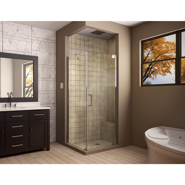 "Amazon.com: DreamLine Elegance 34"" by 34"" Frameless Pivot Shower Enclosure, Chrome Finish, SHEN-4134340-01: Home Improvement"