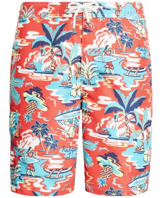 32ab0c6fab Polo Ralph Lauren Men's Big & Tall Kailua Tropical Swim Trunks - Vintage  Palm Island 3XB