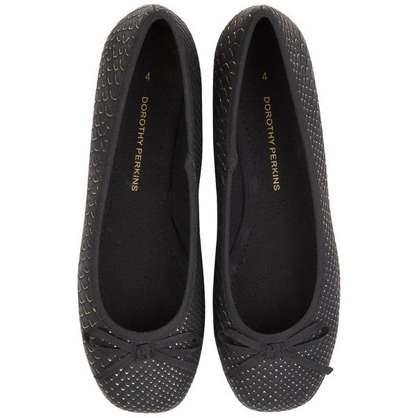 dorothy perkins black flat shoes