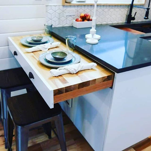 Need More Counter Space But Not All The Time We Have That Covered Here At Tru Form Tiny Just Pull Small Kitchen Decor Kitchen Design Small Small Kitchen Bar