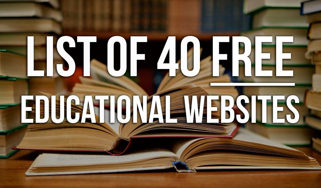 40 free educational sites for post-secondary learning and