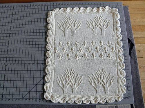 This heirloom blankie is a miniature version of Nicky Epstein\'s ...