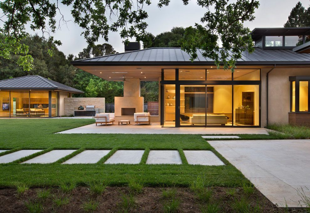 Best Hip Roof Overhang Exterior Contemporary With Grass Modern 640 x 480