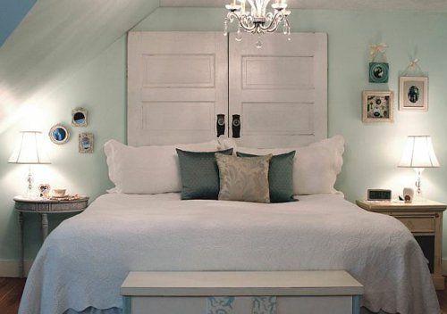 Selbstgemachte Vintage Kopfteil Für Ihr Bett Selber Machen Holz Türen  Kronleuchter