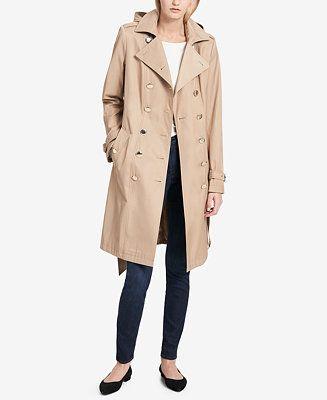 Calvin Klein Pe E Double Ted Trench Coat Coats Women Macys