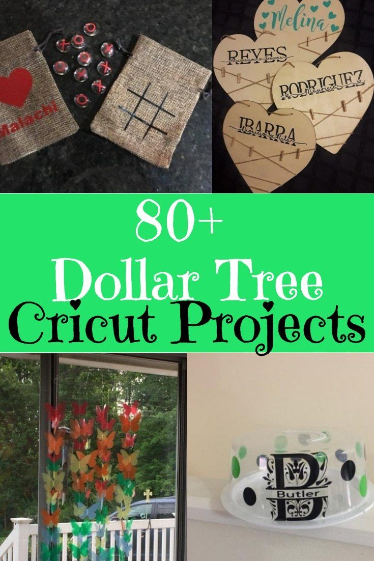 80+ Dollar Tree Cricut and Silhouette Projects #cricutexploreair2projects