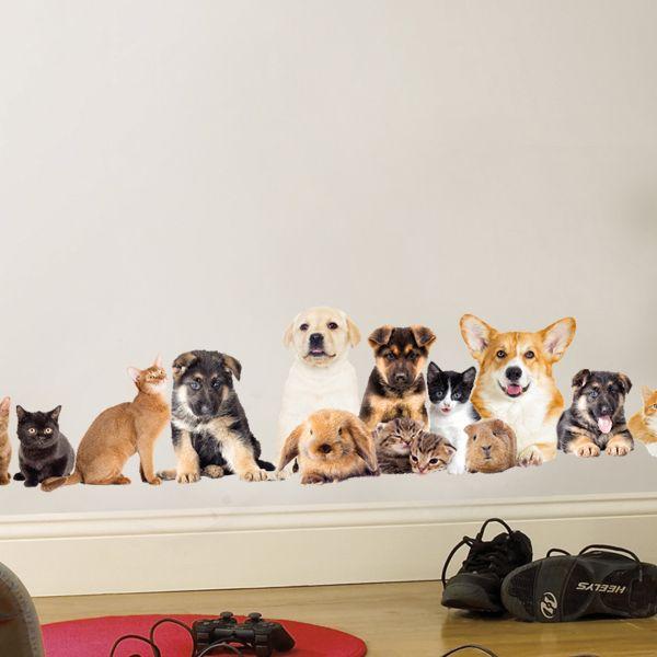 Vinilos decorativos mascotas perros gatos y conejos - Vinilos decorativos gatos ...