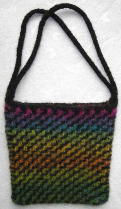 Diagonal Ripple Felted Purse Bag Totes Purse Free Knitting