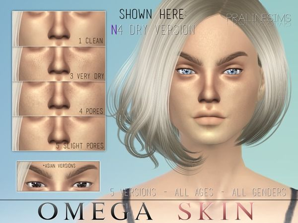 The Sims Resource: Omega Skin by PralineSims
