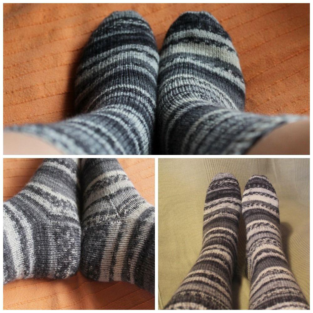 Siona: Patrón de calcetines con 5 agujas del elástico a la puntera ...