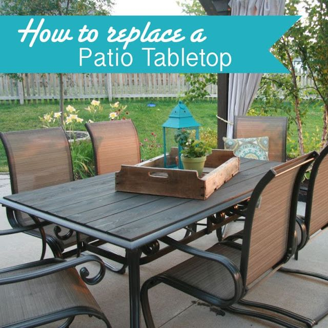 Paper Daisy Designs Makeover An Outdoor Table And Refresh Chairs Diy Patio Table Outdoor Table Tops Outdoor Patio Table