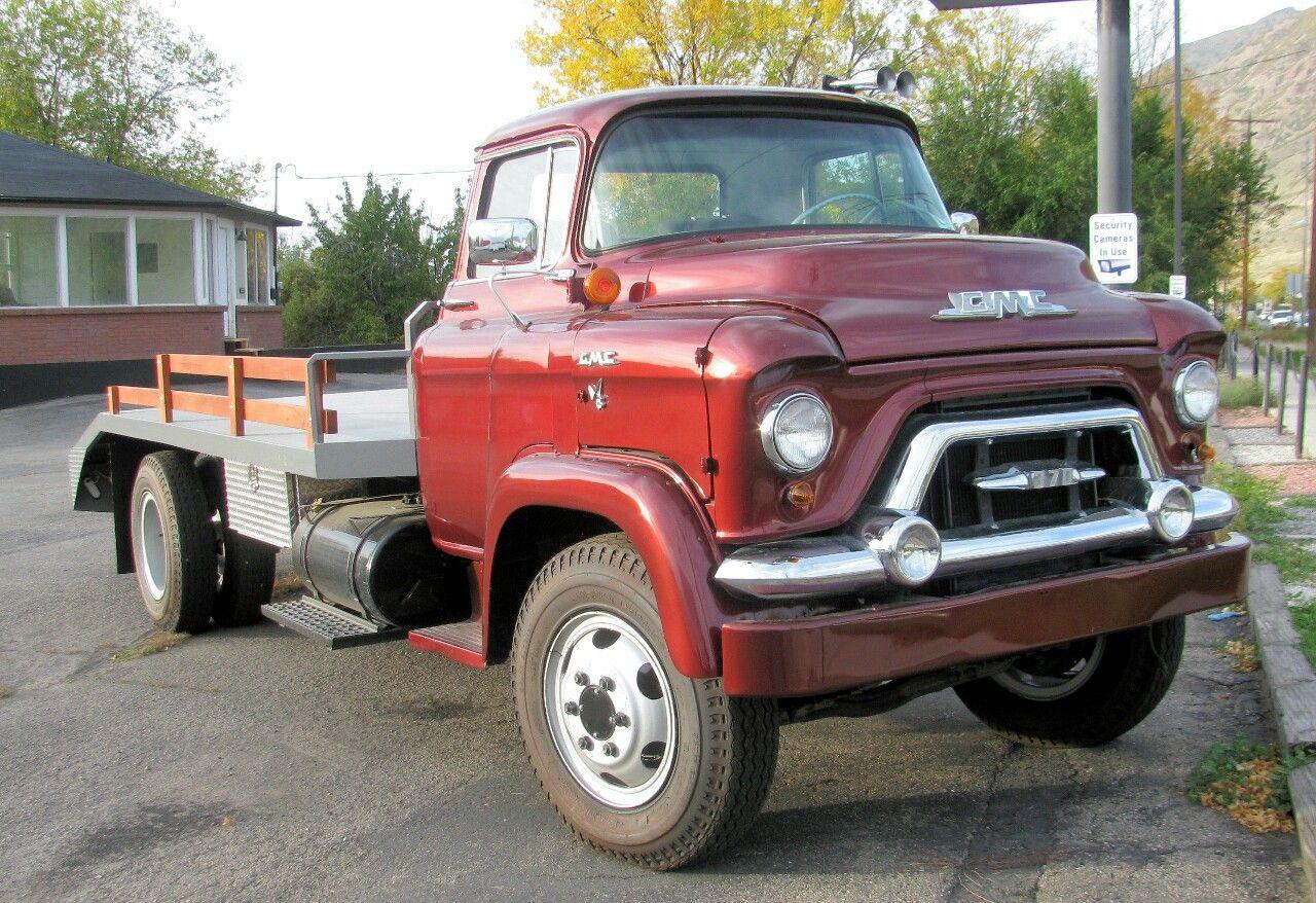 Semitrckn 1957 Coe Gmc 370 Classic Gmc Trucks Gmc Truck Flatbeds