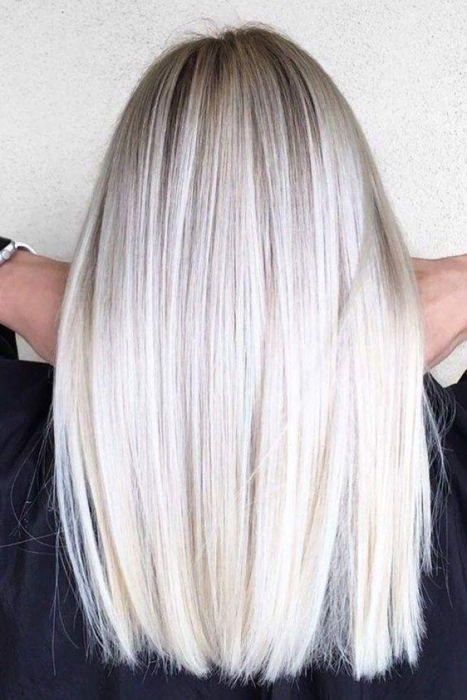 ombré hair blond platine cheveux long