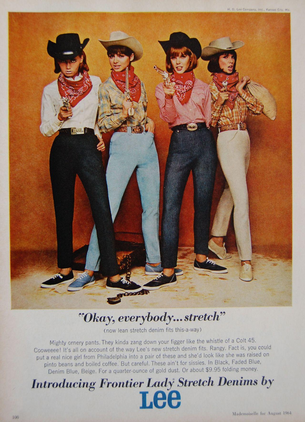 Vintage Lee Jeans Advertisement Poster A3 Print