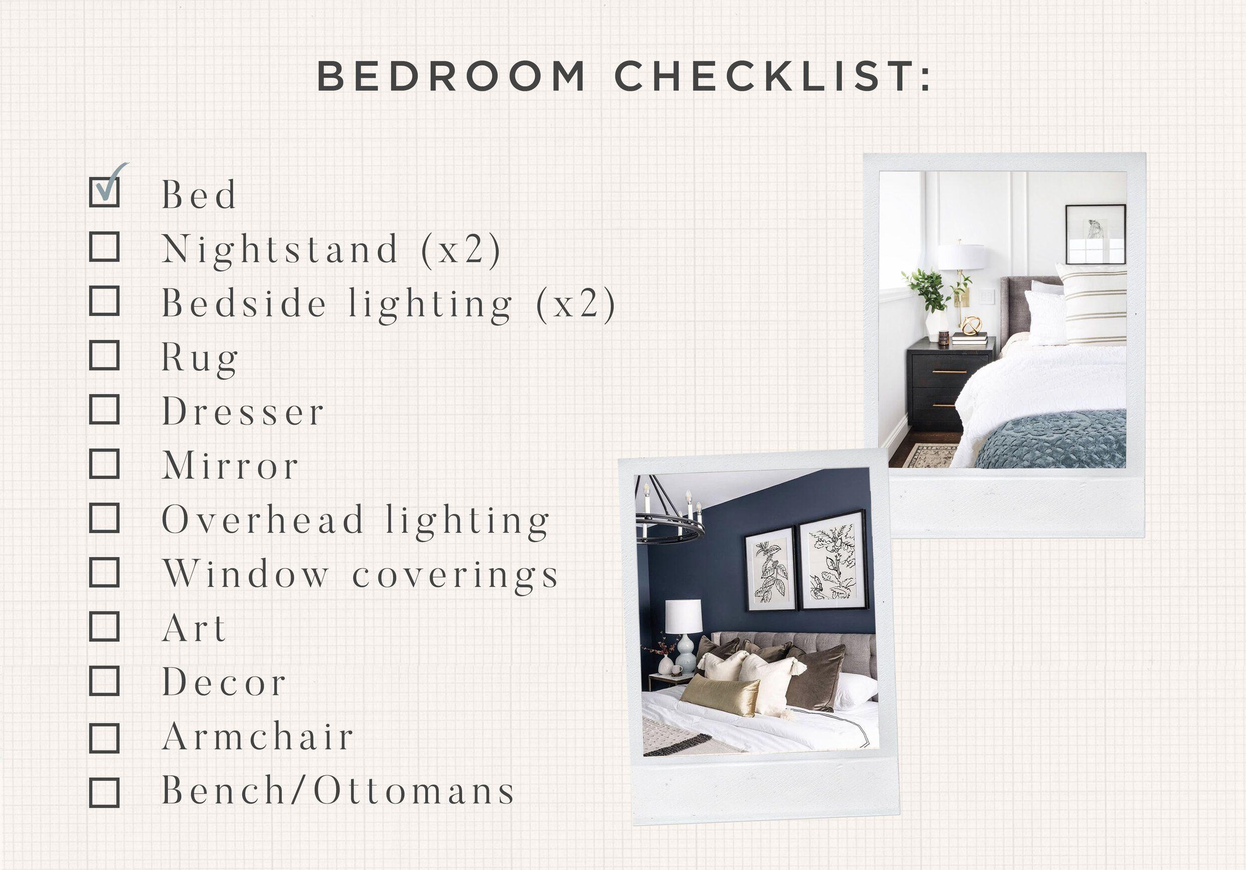 Master Bedroom Makeover Checklist in 8  Bedroom makeover