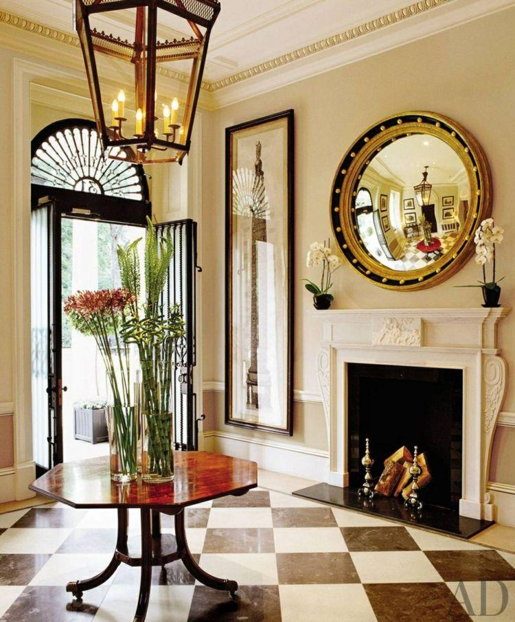Recibidores con encanto - 38 ideas para decorar Chimeneas de leña