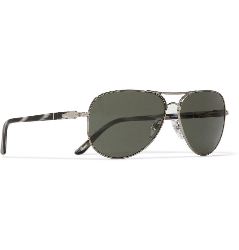 Persol Steel-Frame Aviator Sunglasses | MR PORTER | Style | Pinterest