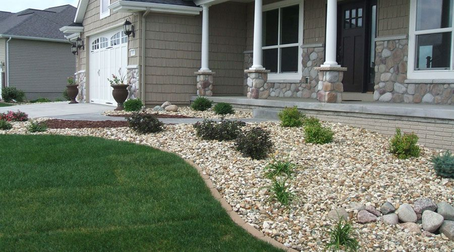 Landscape Mulche Rock Great Ideas Of Landscape Mulch Design