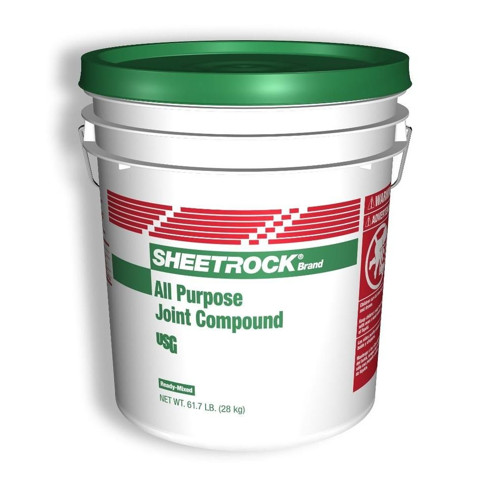 Sheetrock Brand 5 Gal All Purpose Pre Mixed Joint Compound 380501 At The Home Depot Drywall Joint Compound Plaster Repair Sheetrock
