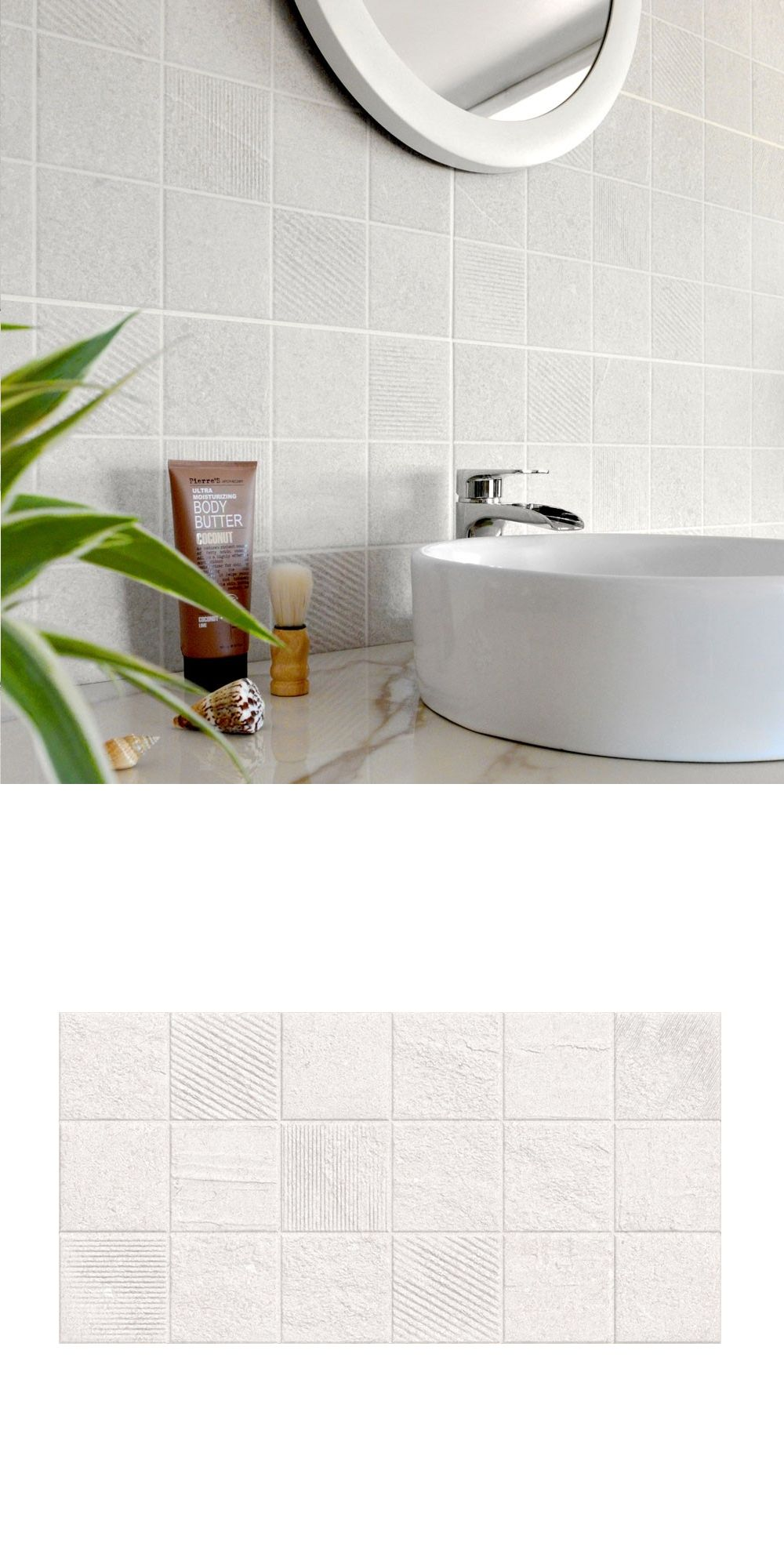 Create A Charming New Look On Your Wall Es With The Introduction Of These Earthstone Ivory Puzzle Tiles They Have Textured Stone Effect Design In