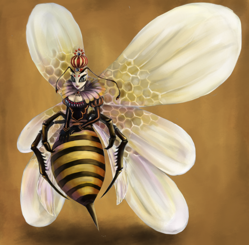 Queen Bee Monarch Background-Touchup by Moonymage on ...
