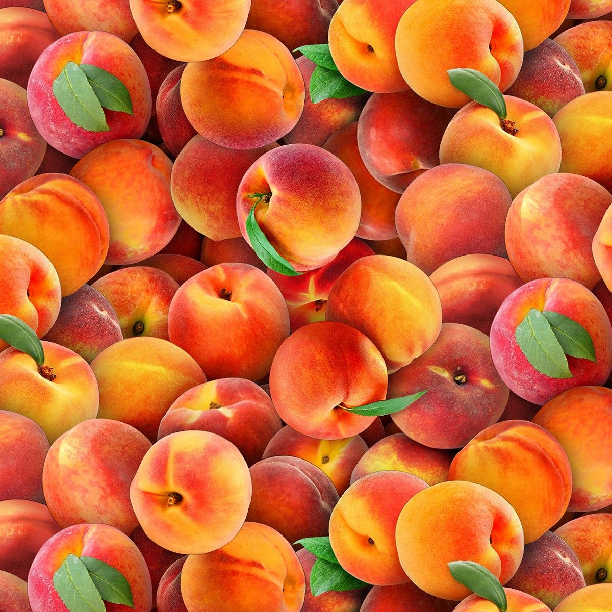 Multi Peaches 15yds, 100 Cotton, 44/45in Peach fruit