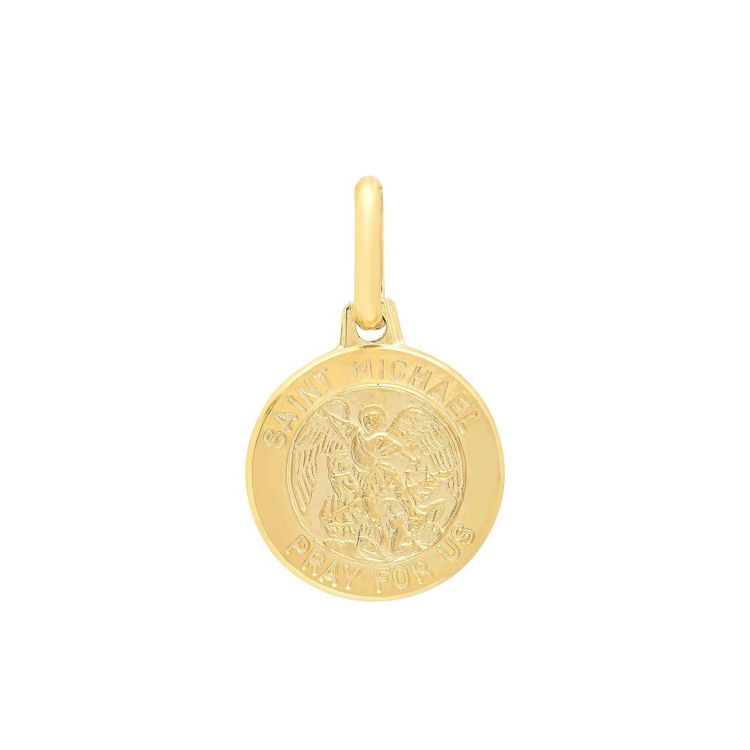 Sterling essentials italian 14k gold mm stmichael medal pendant sterling essentials italian 14k gold mm stmichael medal pendant aloadofball Images