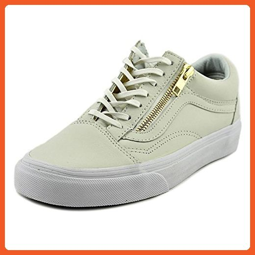 Vans Old Skool Zip Women Us 5 White Sneakers Sneakers For Women Amazon Partner Link White Sneakers White Leather Shoes Sneakers
