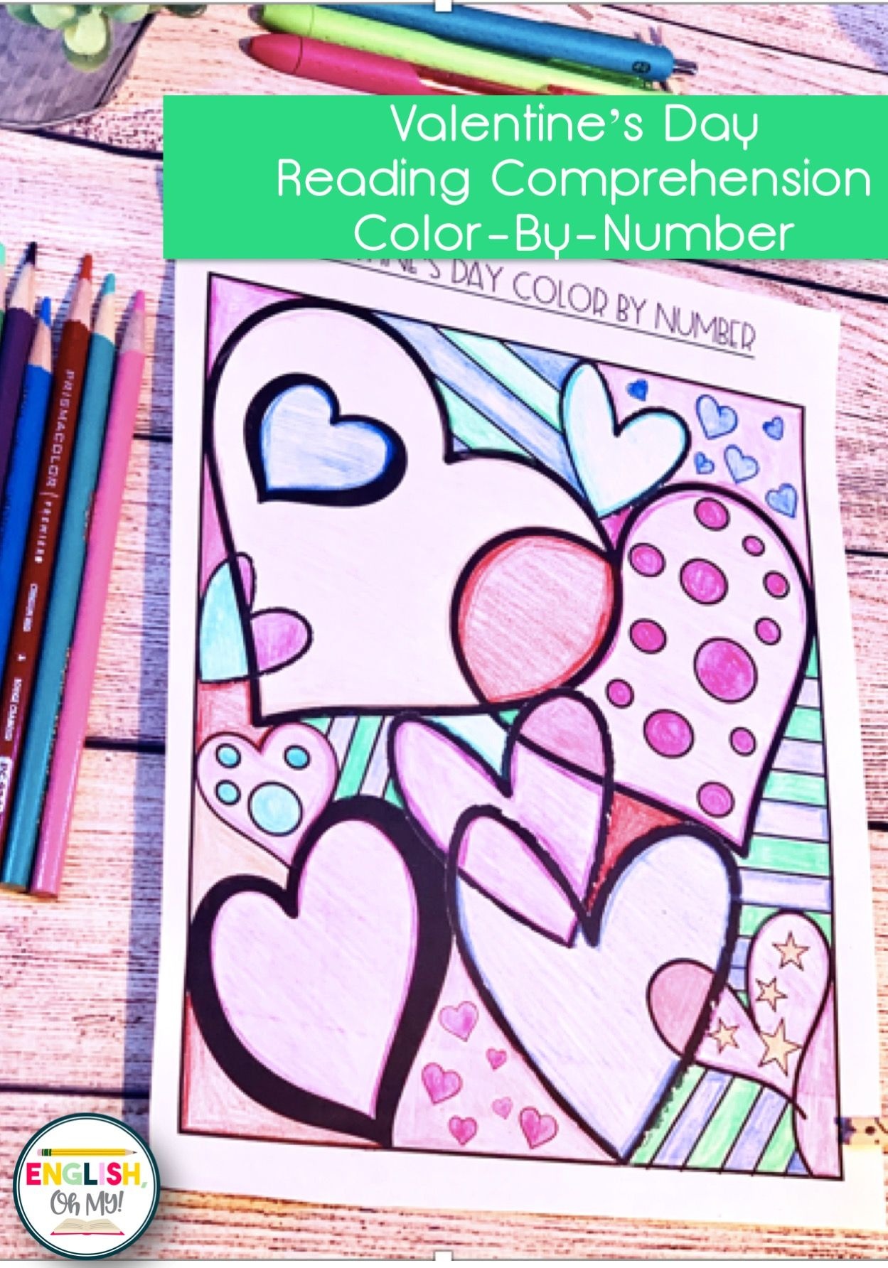Valentine S Day Activity Reading Comprehension Color By