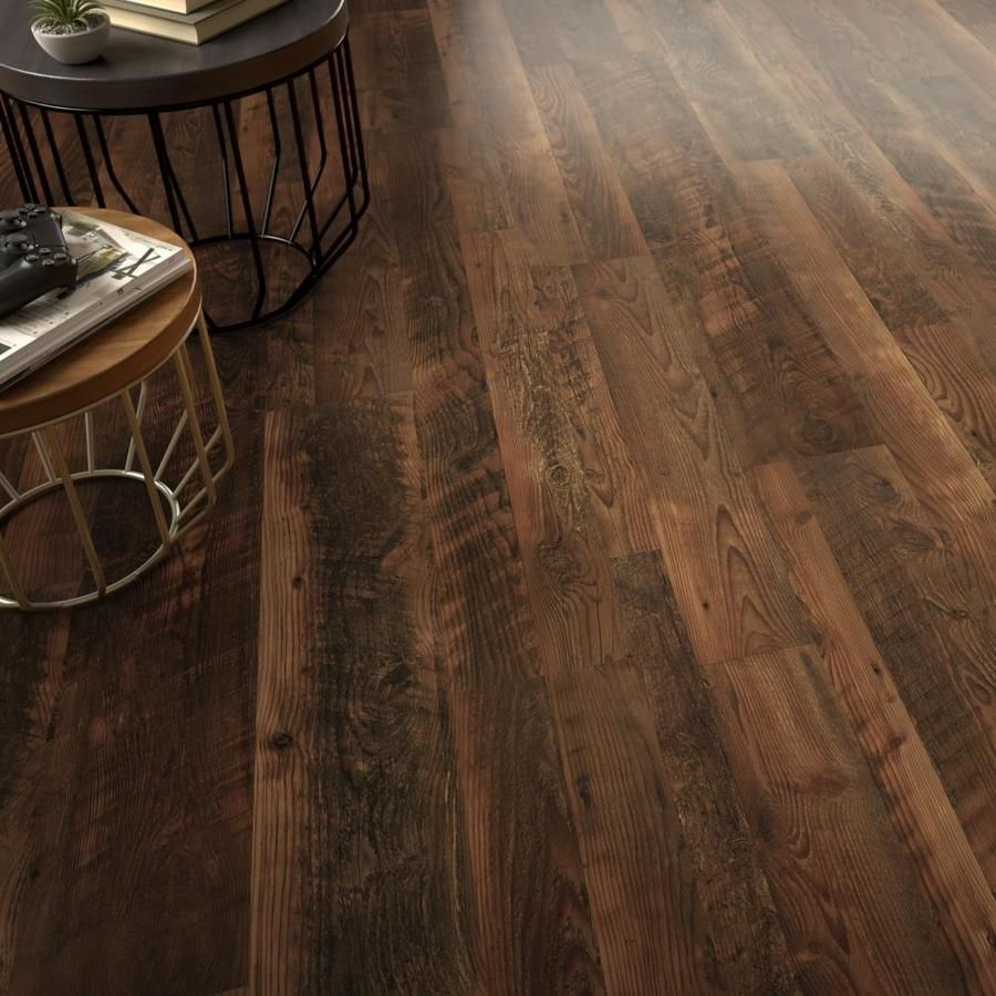 Style Selections Saddle Pine 7 59 In W X 4 23 Ft L Smooth Wood Plank Laminate Flooring Lowes Com Laminate Flooring Faux Wood Flooring Flooring