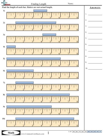 Measurement Worksheets Measurement Worksheets Math Measurement Worksheets