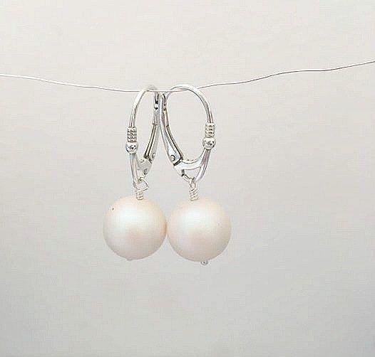 Pearlescent White Earrings Pearl By Allthingsbab