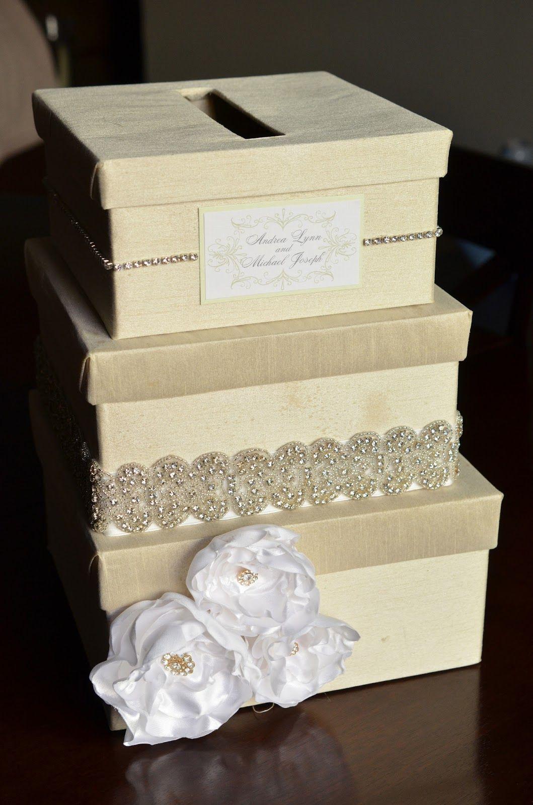 Andrea Lynn Handmade Diy Wedding Card Box Tutorial With Diffe Colors And Ts