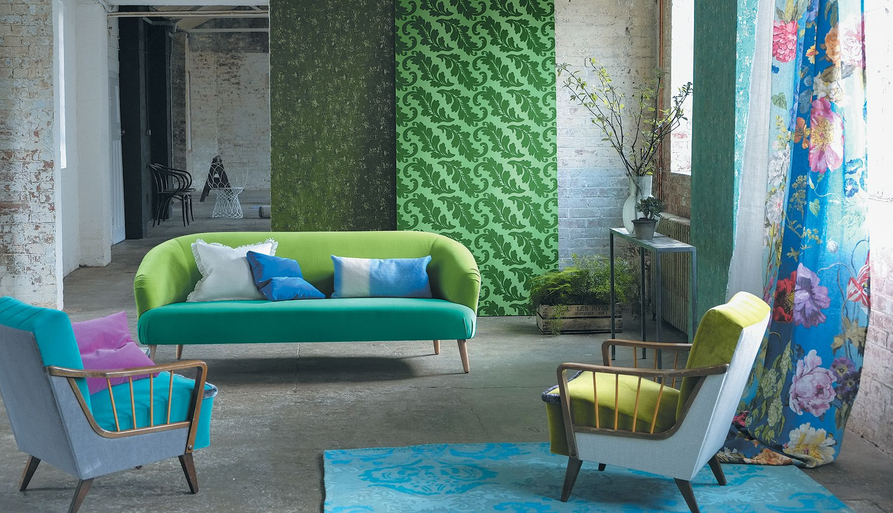 Designers Guild Ardassa flock wallpaper
