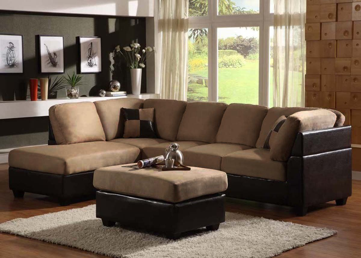 Chaise lounge microfiber sectional sofa under $500 : microsuede sectional with chaise - Sectionals, Sofas & Couches