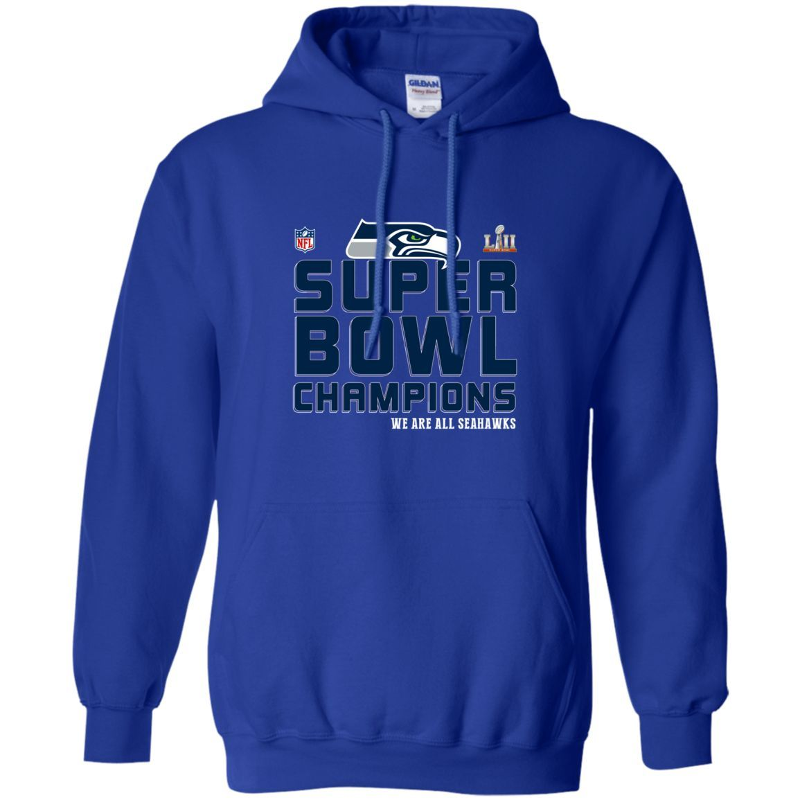 National Football League Seattle Seahawks champions we are all Seahawks super bowl LII 2018 T shirt hoodie sweater