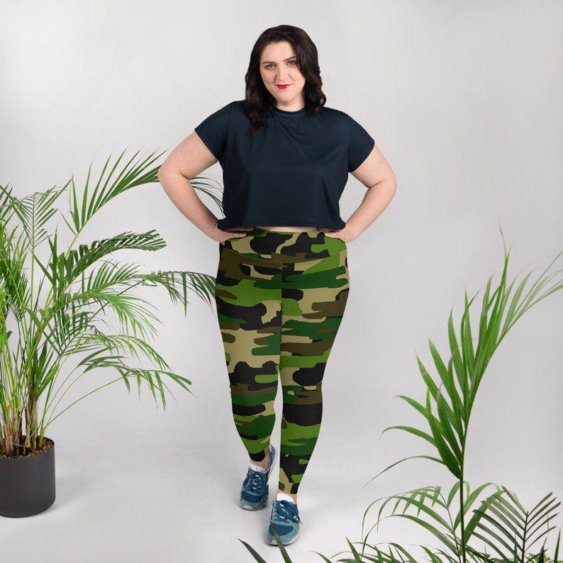 PLUS TC Curvy New Women/'s Camouflage Camo Print Leggings Buttery Soft Size 10-18