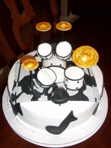 Drum Set Birthday Cake Valentineday Drums Drum Cake