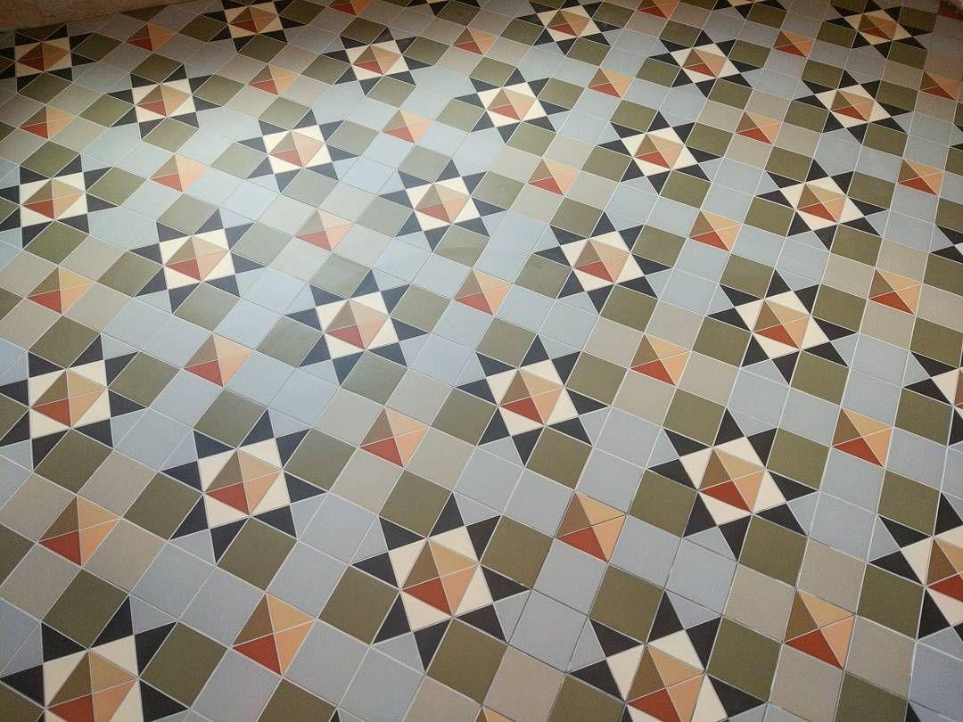 Mettlach Victorian Geometric Floor Original Style Tile