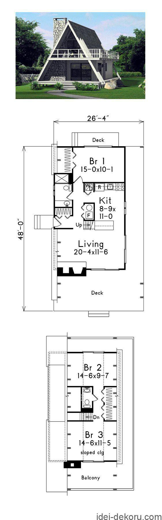 Chitajte Takozh 6 Proektiv Saun Z Terasoyu Dachni Budinochki Dlya 6 Sotok Proekti 53 Foto 45 Idej Dachnih Budin A Frame House Plans A Frame House House Floor Plans