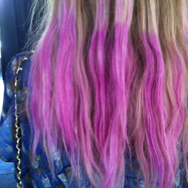 amazing dip-dyed hair madewell