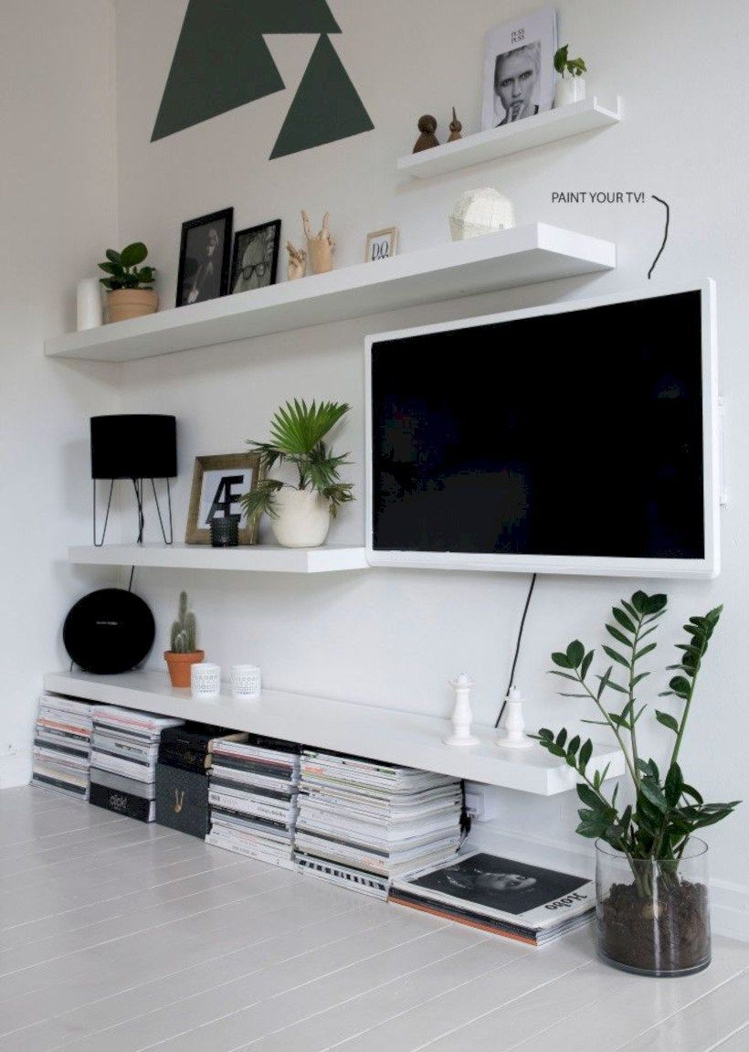 Cool Ikea Lack Shelves Ideas Hacks 53 Ikea Lack Shelves Lack  # Meuble Cache Tv Ikea