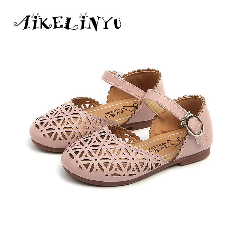 Baby Girl Summer Shoes Girls Pink Sandals Baby Girls Small Leather Sandals  Children Hollow Princess Sandals Kids Fashion Sandals. 5036044c0539