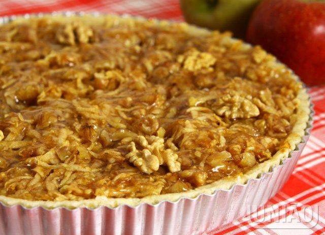Torta de maçã com nozes - receita testada e aprovada