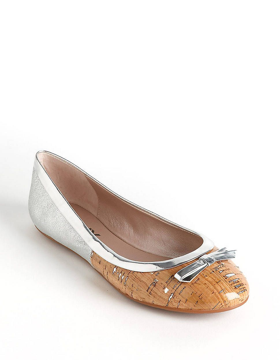 Abby Leather Ballet Flats | Lord and Taylor